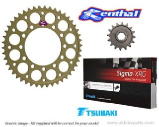 Renthal Sprockets And GOLD Tsubaki Sigma X Ring Chain